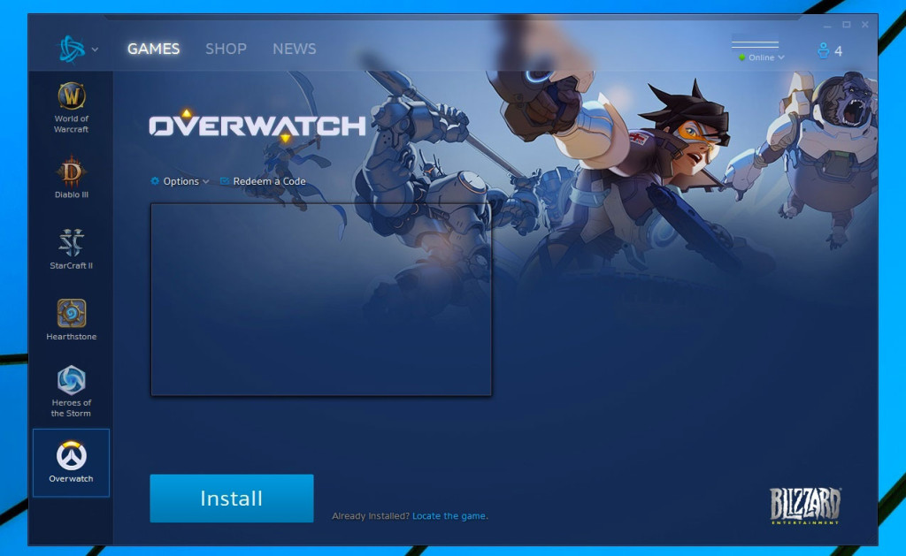 Ecran Installation Overwatch