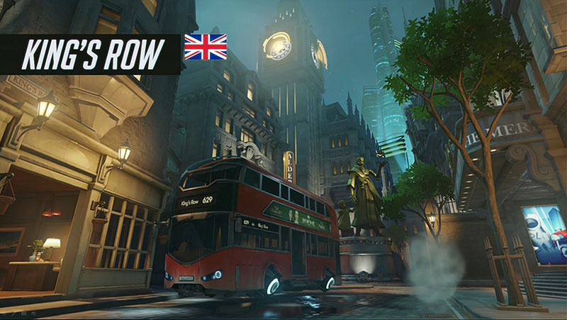 Map King's Row Overwatch