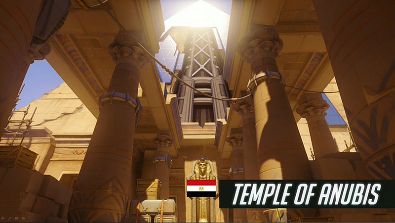 Map Temple d'Anubis Overwatch