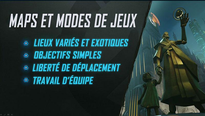 Maps et Modes dans Overwatch