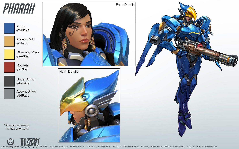 Kit de référence cosplay Pharah Overwatch