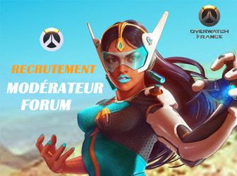 Overwatch France recrute un modérateur pour son Forum