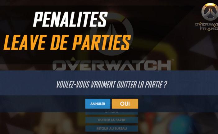 Comment fonctionne le système de pénalité de 75% d'xp sur Overwatch ?