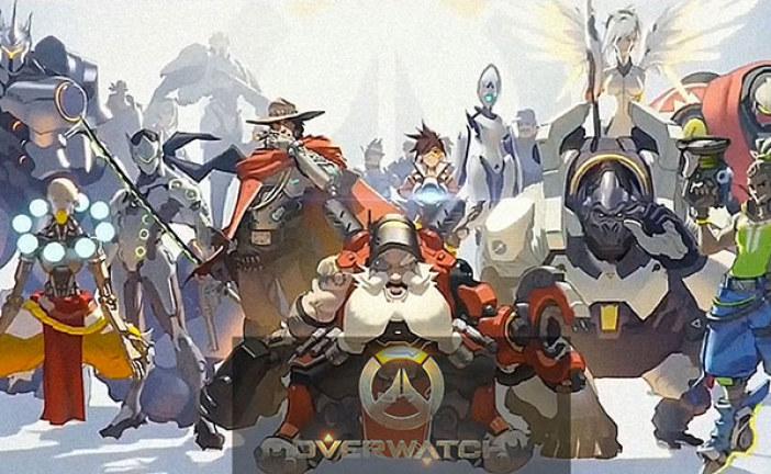 Un GIF animé des héros d'Overwatch